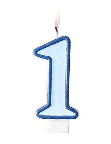 Muñeco de peluche - Vela Número 1 azul para niños