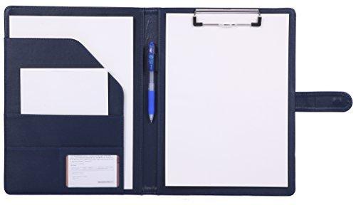 portedocuments porte-bloc, Mymazn rangedocuments porte-bloc Planchettes Porte-formulaires pochette conferencier portfolio trieur farde poche organiseur (bleu)