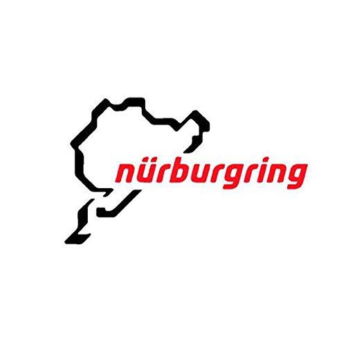 Auto Aufkleber Die Rennstrecke Nürburgring Auto Aufkleber, Rennwagen Motorradrennen Vinyl Dekor Aufkleber Für Karosserie 15 cm x 10 cm