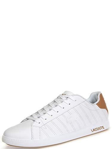 Lacoste Graduate 318 1 SPM, Sneaker Uomo, Bianco (White/Light Tan Y05), 44 EU