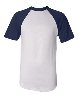 Augusta Sportswear Men'S Short Sleeve Baseball Jersey S White/Navy (Augusta Jersey T-shirt)