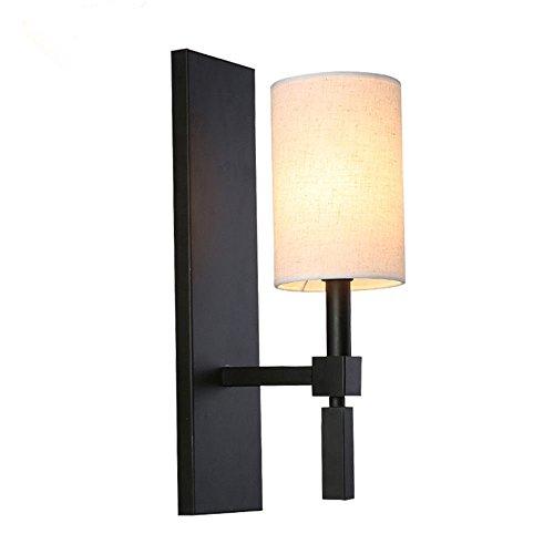 Lightoray vintage lampada da parete antiquariato lampada al posto letto in ferro battuto e27 retro applique da parete per bar, camera da letto, cucina, ristorante, caffè, corridoio