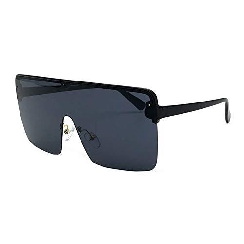 CCGSDJ Übergroße Halbrandlose Sonnenbrille Frauen Männer Futuristische Big Goggle Luxus Party Sonnenbrille Modische Festival Eyewear