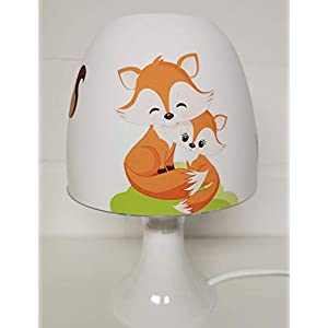 ✿ Tischlampe ✿ Fuchs Fox orange Baby Hase Igel personalisiert Name ✿ Tischleuchte ✿ Schlummerlicht ✿ Nachttischlampe ✿ Lampe ✿