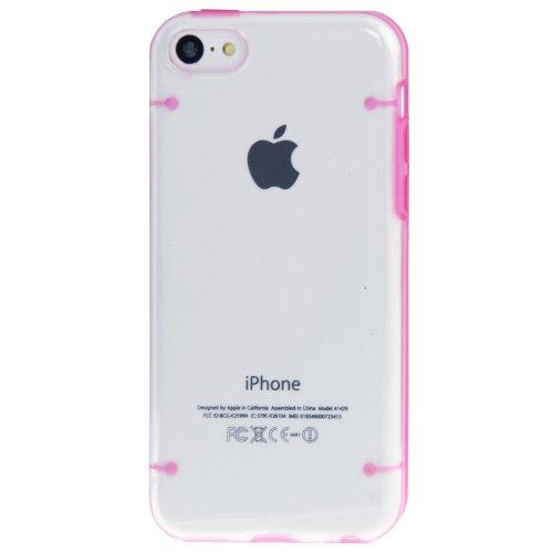 """iPhone 5C coque/Case/Coque en rose avec panneau arrière transparent en polycarbonate de qualité style """"de Bumper Case-Original seulement de thesmartguard"""