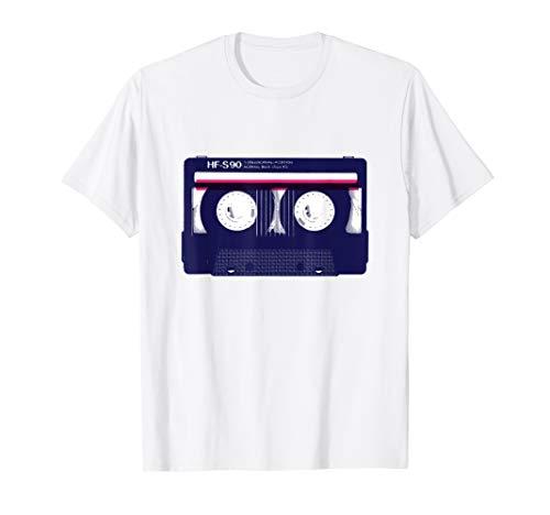Vintage Retro Kassette Tape Shirt 80er 90er Jahre Party