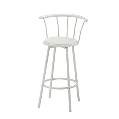 White Bistro Bar Stool Swivel Seat - low-cost UK light store.
