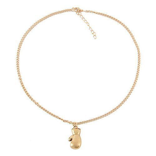 Mini guante de boxeo ROCKY collar colgante del oro para los hombres regalo Ideal