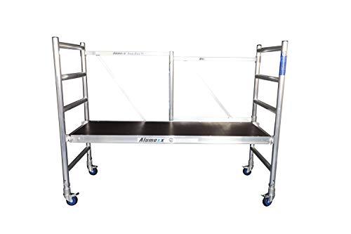 ALUMEXX Basic-X kompakt, Rollgerüst, Zimmergerüst bis 3,0 m Arbeitshöhe, 1,90 m Plattformlänge