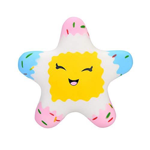 Kawaii Star Scented Squishies Slow Rising Juguetes para Niños Stress Relief Toy Hop Props Jumbo Squishys Kawaii Cartoon Pastel Perfumado DescompresióN Cute Squishy Doll