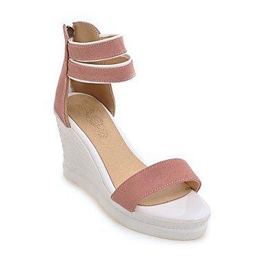zhENfu Donna Sandali scarpe Club Comfort Novità vello materiali personalizzati outdoor Abbigliamento Sportivo fibbia nero giallo verde Beige rosa Blushing Pink