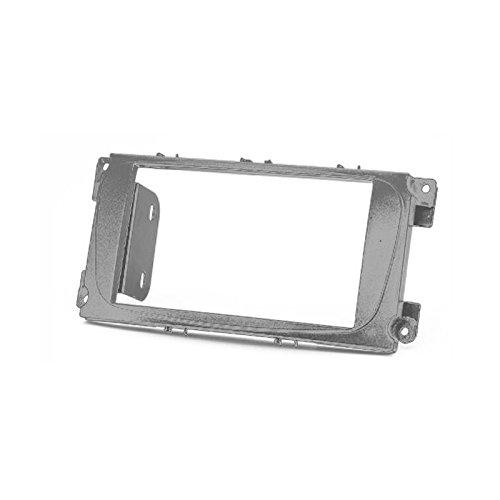 carav 11–416Doppel DIN Radio Stereo-Adapter DVD Dash Installation umgeben Trim Kit (Silber) Schacht Trim Faszie mit 173* 98mm und 178* 102mm (2007 Ford Focus Auto Stereo)