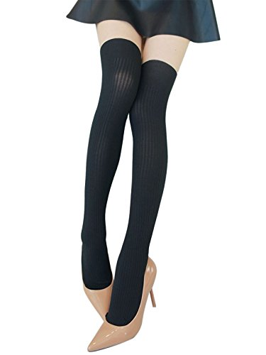 Damen Feinstrumpfhose Strumpfhose mit Overknees Muster Tights Leggings