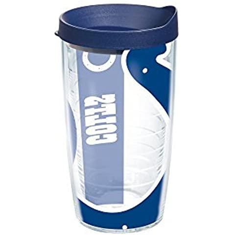 Tervis NFL Indianapolis Colts Colossal Wrap Individual Tumbler with Lid, 16 oz, Clear by Tervis