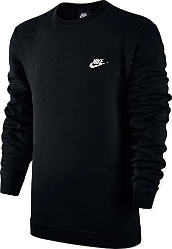 Nike Herren M NSW Club CRW BB Langarm Sweatshirt, Schwarz (Schwarz/Weiß), XXXL