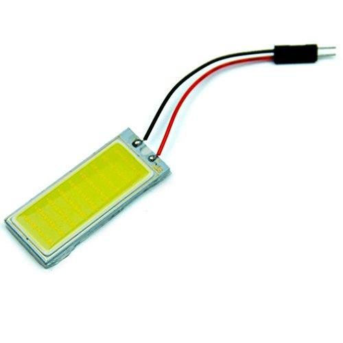 erthome 2pcs Xenon HID White 36 COB LED Dome Map Light Bulb Car Interior Panel Lamp 12V 50 mm x 20 mm
