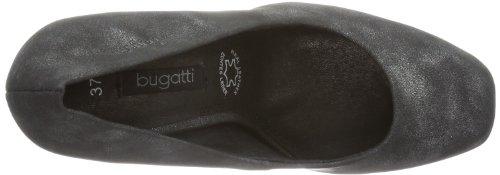 Bugatti W93716u, chaussures compensées femme Noir - Schwarz (schwarz 100)