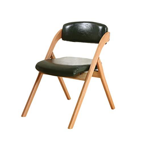 YIRE Bar stool Klappstuhl Klappstuhl Klappstuhl aus Massivholz PU Leder schwarz Buche, hochelastisches Schaumstoff, Wohnzimmer Schlafzimmer Esszimmer Stuhl Computerstuhl -