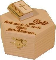 Leben mit Holz Bibel - Kassette, 10cm (Bibel-kassette)