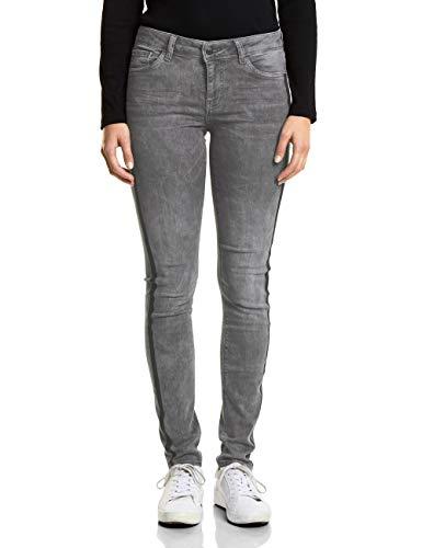 Street One Damen Slim Jeans 371750 York, Grey Random Bleach, W25/L30 (Herstellergröße: 25)