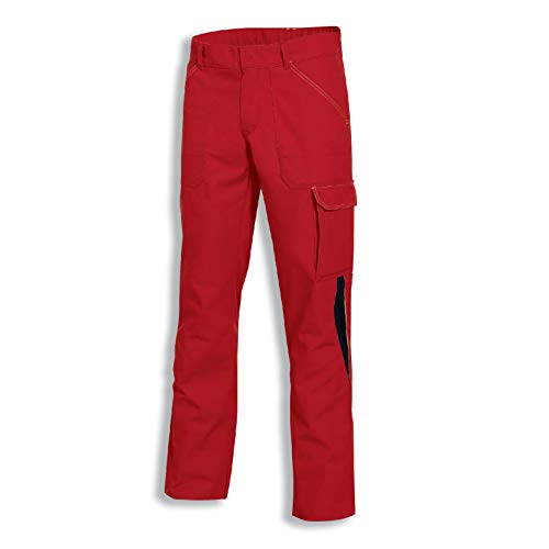 Uvex Perfect 8926 Herren-Arbeitshose - Rote Männer-Cargohose 58