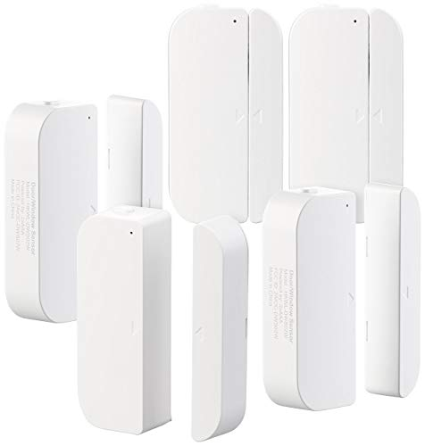Luminea WLAN Fensterkontakt: 5er-Set WiFi Tür & Fensteralarm, Alexa und Google Assistant komp. (Fenstersensor)