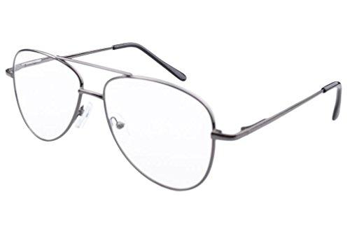 Eyekepper occhiali, stile pilota, montatura di metallo con cerniere a molla +0.75 oro