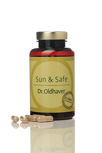 Dr. Oldhaver | Sun & Safe Bräunungskapseln | Beta-Carotin Tabletten | mit UV-Schutz | Beta-Carotin Kapseln für natürlich braunen Teint | 120 Kapseln