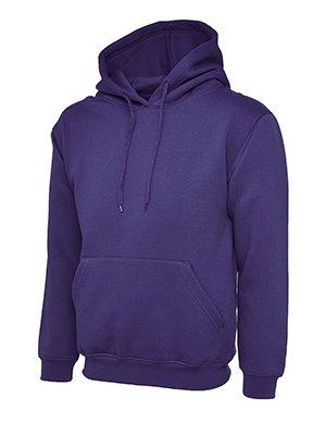 Makz - Uneek Herren Klassisches Kapuzen Sweatshirt Violett