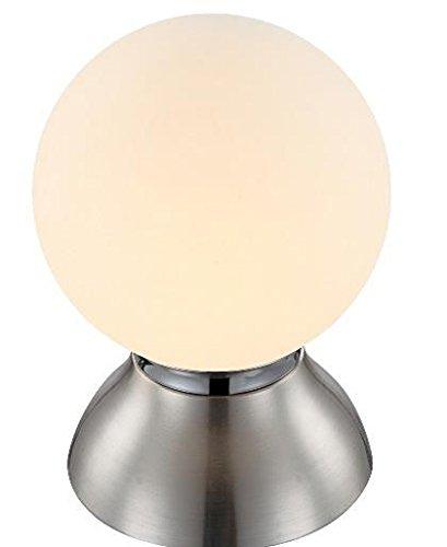 LED Tischlampe mit Touch-Schalter Tischleuchte Nachttischleuchte Schreibtisch Büroleuchte Lampe (Leuchtmittel + Größe ca.: Durchmesser 14 cm x Höhe 20 cm)