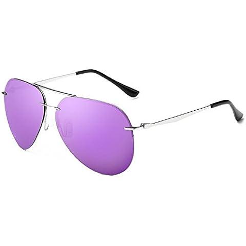 B-B, Classical Aviator Sunglasses Polarized 63mm oversize