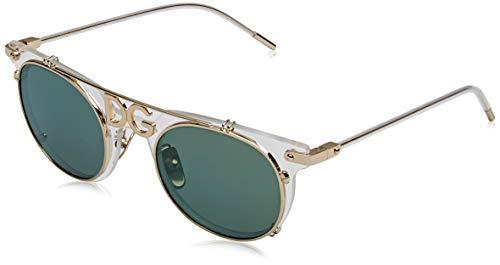 Dolce & gabbana 0dg2196, occhiali da sole uomo, multicolore (clear), 49