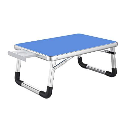 Lapdesks Laptop Tisch Aluminium Klapphalterung Laptop Halterung Tragbare Bett Tisch Schreibtisch Kleine Tabelle Leserahmen (Color : Blue, Size : 70 * 50 * 32cm) -
