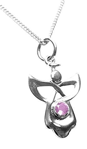 Collier avec pendentif ange gardien celtique en argent sterling et