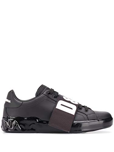 DOLCE E GABBANA Herren Cs1665ak46889690 Schwarz Leder Sneakers