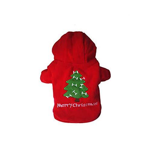Niedlichen Frauen Weihnachts Kostüm - XGPT Hunde Kostüm Hund Kleidung Cartoon Red Cotton Kostüm Für Haustiere Männer Frauen Niedlichen Cosplay Weihnachten,S