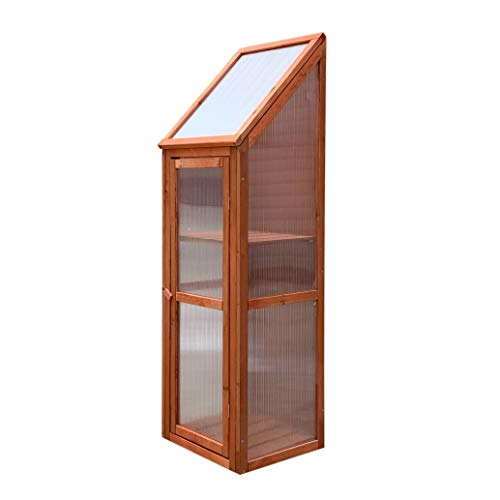 Gardiun KNH1212 Gewächshaus Holz/Polycarbonat Wooden III Maße 35 x 41 x 132 cm
