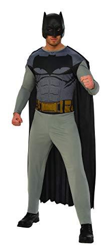 Fancy Ole - Herren Männer Männer Batman Kostüm, perfekt für Karneval, Fasching und Fastnacht, M/L, Grau