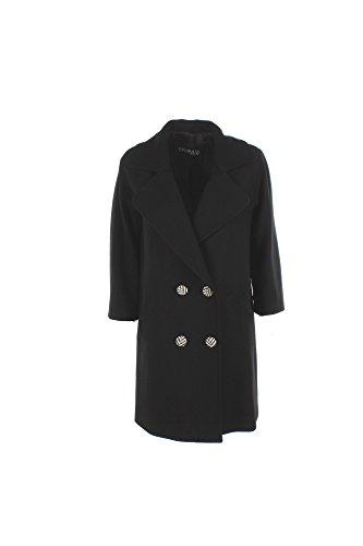 Cappotto Donna Chiarulli 40 Nero Marlene Madrid Autunno Inverno 2016/17
