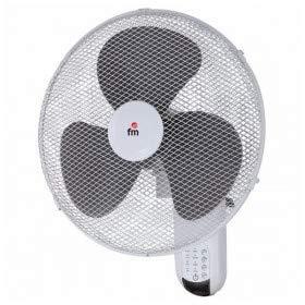FM Ventilador, Metal, Gris y Blanco, 40 cm, 4000