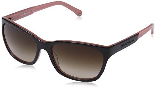 Armani Unisex  Sonnenbrille EA4004, , , , , Gr. Large (Herstellergröße: 56), Mehrfarbig (brown 504613)