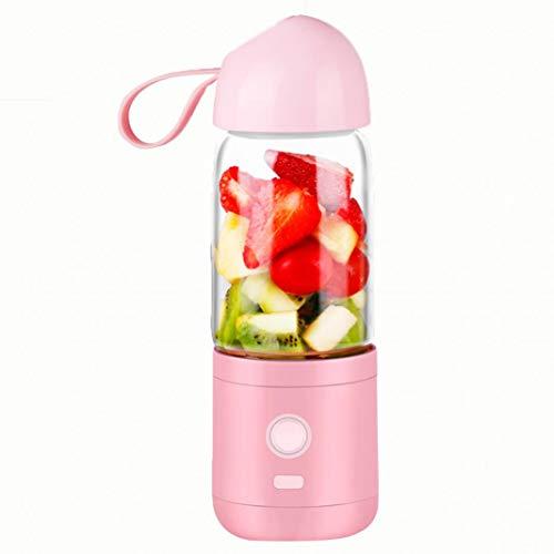 sxsuperbOniu, Copa exprimidor, Exprimidor eléctrico de fruta de la máquina licuadora portátil de 550 ml Taza exprimidora de frutas - Rosa para Hogar, cocina