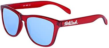 Northweek Regular Bright Red - Iceblue Polarized - Gafas de sol unisex, rojo