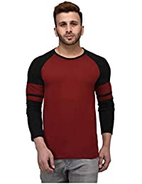 CHEEKU Roundneck RED Cotton Men's Full Sleeve Casual Slim T-Shirt
