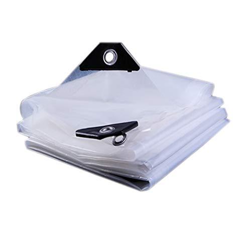 YYGU Plane Transparente/Klare Wasserdichte Polyethylen, Heavy Duty Abdeckplane mit Ösen, Draussen Schutzplane für Dach Wohnmobile Pool PKW-LKW Balkon Terrasse,13x16ft(4x5m)