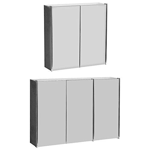 Home discount tiano armadietto a tripla specchio a parete in acciaio inox moderno armadio in unità