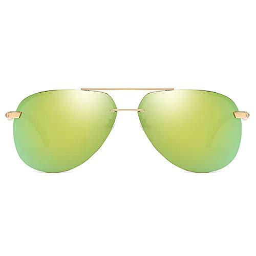 FURUDONGHAI New Retro Polarized Metal Material UV400 Sonnenbrille Trendvergoldung/Orangeness Lens Golden Frame Herren-Sonnenbrille besonders geeignet für sommerreisen oder Outdoor s