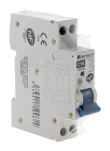 Zenitech -1749AP - Disjoncteur PH/N - 16A NF