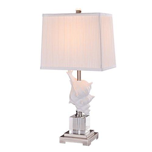 (Conch Kristall Tischdecke Moderne Einfache Leselampe Weiß Kreative Mode Schlafzimmer Wohnzimmer Hotel Studie Tischlampe)