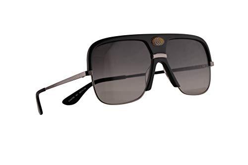 Gucci GG0478S Sonnenbrille Schwarz Silber Mit Grauen Gläsern 59mm 001 GG0478/S 0478/S GG 0478S
